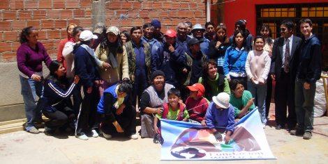 Wiphala-Gruppenfoto